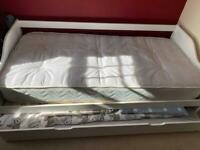 Immaculate Single White Trundle Bed