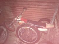 Old motorbike frames and parts