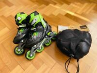 Roces Compy Child Rollerblades 12J-1 plus pads/guards