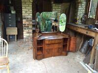 Art deco/Nuevo Style Dresser - Three mirrors - Good Condition - £50 ono