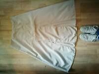 ASOS Cream Midi Skirt, size 14