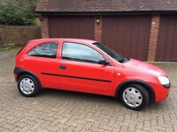 3-door Red Vauxhall Corsa, sold as seen. 10 month MOT, has been SORN. Nearly 125'000 miles