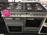 FLAVEL 100CM DUAL FUEL RANGE STYLE COOKER IN SIKIVER