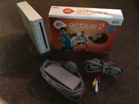 Nintendo wii console and active 2 set