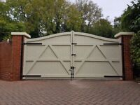 Swan Neck - Wooden Driveway Gates - Made To Measure - Heavy Duty - Timber Double Entrance