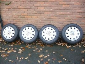 VW Transporter wheels and excellent tread tyres x 4