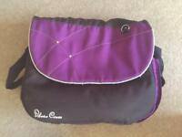 Silver cross purple and black changing bag