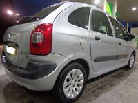 2002 citroen picasso 2.0 diesel+long mot+tax+parking sensors+full tank diesel DRIVEAWAY OR DELIVERY