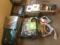 Job lot of Vinyl records LP's and 45s