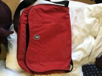 Crumpler red laptop bag XL