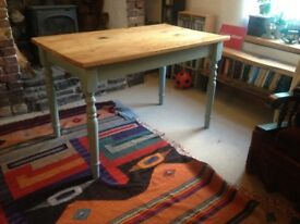 Pine kitchen table, Width 70cm length 116cm height 75cm