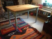 Pine kitchen table, Width 70cm length 116cm height 75cm