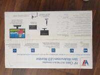 "New V7 19"" class slim widescreen LED monitor"