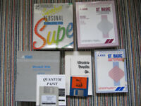Atari ST program bundle - games, MS Word, ST Basic etc + DD floppy disks