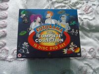 FUTURAMA THE COMPLETE COLLECTION 15 DISC DVD BOX SET ALL IN A VERY NICE CONDITION.