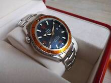 Omega Seamaster Planet Ocean 45mm XL Co-Axial Orange plus straps Rose Bay Eastern Suburbs Preview