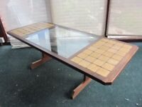 G Plan Coffee Table; Teak, Tile and Glass in Excellent Condition