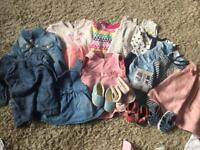 0-3 girls clothes bundle, next gap