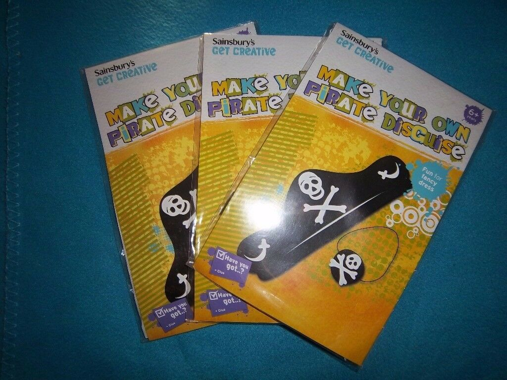 3 x New Make Your Own Pirate Disguise Kits IP1