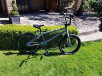 HARO 400.1 BMX bike. Silver black and blue. Excellent condition