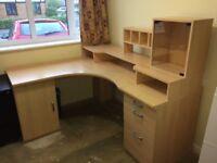 Large Corner Desk Beech Effect