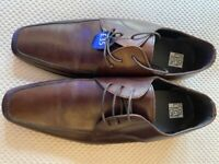 The Collection Brown Leather Shoes UK 8 EU 42 - Brand New