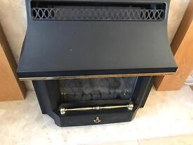 Black beauty gas fire