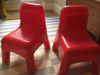 Set of two Childrens Play Chairs