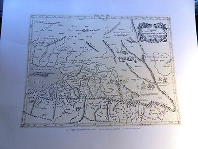 Map of Scythia-Sogdiana-Bactriana Lithographed from the Original Antique Map