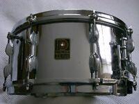 "Premier Dominion Ace COB snare drum 14 x 6 1/2"" - modded- England- Vintage"