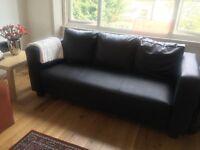 Leather 3 seater sofa £30