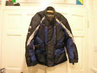 Buffalo Large Blue And Black Motor Cycle Jacket Weymouth