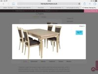 Dining Table extendable & 6 Chairs in light Oak as NEW - Only 2 month s old. Too big for new flat.