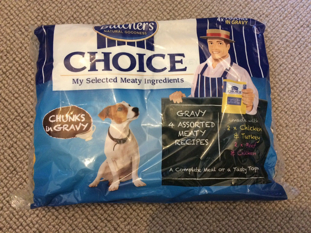 16 Packs 4x100g Each Pack Butchers Choice Pouch Chunks In Gravy