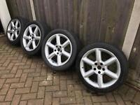 Nissan 350z Alloy wheels with excellent tires
