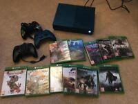 Xbox one S (deep blue) 11 games , 3 controllers