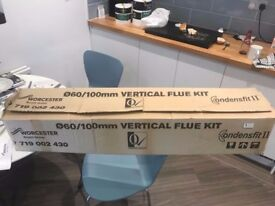 flues for sale x 2 worcester bosch 60/100mm vertical flue kit condenser