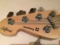 Sandberg California TM NAT5 Left Handed Bass Guitar