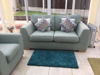 Two Seater Sofa , Single Chair and Storage Foot stool
