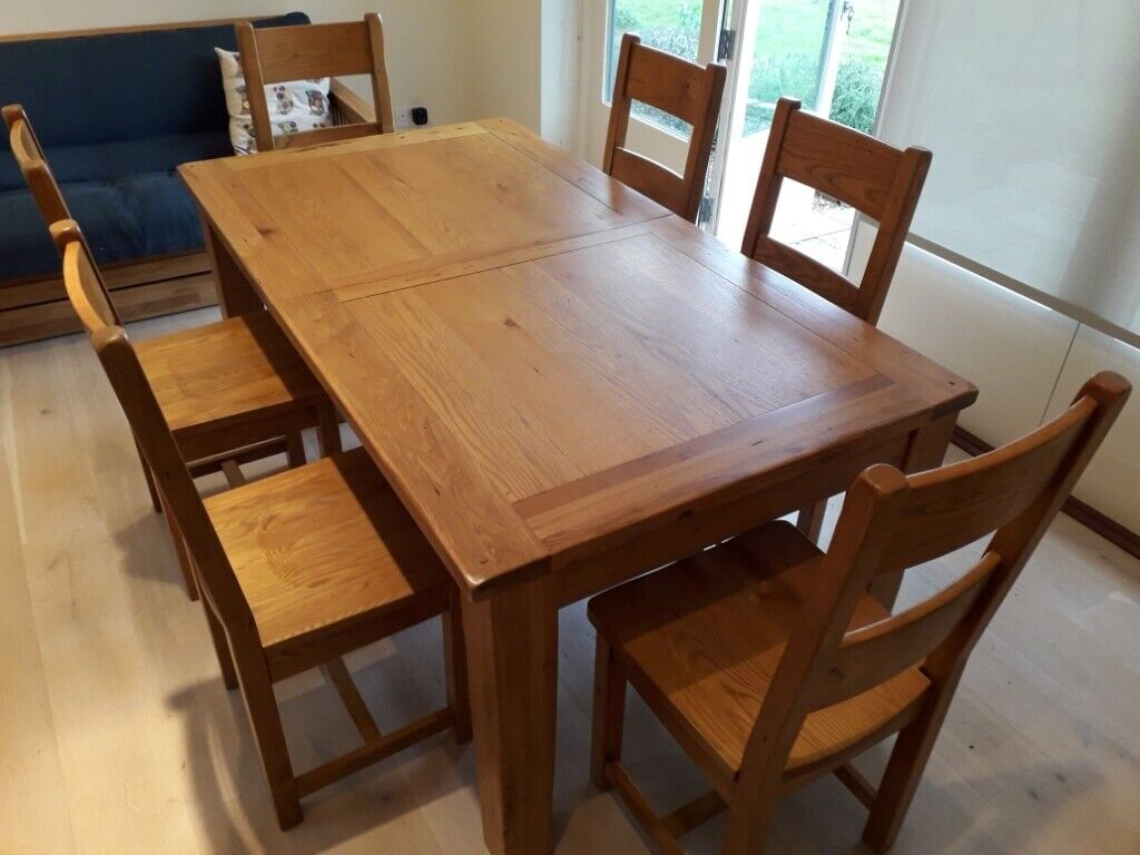 Sensational Sold Cotswold Company Solid Oak Dining Table 6 High Back Chairs In Woodbridge Suffolk Gumtree Interior Design Ideas Gresisoteloinfo