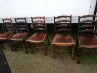 Ladder back dining chairs shabby chic