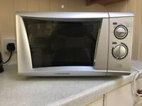 Cookworks silver microwave