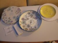 Peter Rabbit contemporary porcelain cake stand and teapot. Brand new in boxes.