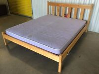 King size wooden bed with mattress - good condition // free delivery