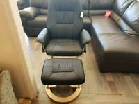 Design leather swivel chair BRAND NEW