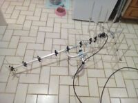 tv aerial with cable. new unwanted .