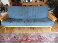 3 THREE SEATER SOFA - FOLDS INTO DOUBLE BED