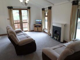 Recently refurbished log cabin for sale at 5 star Percy Wood Golf and Country Park in Northumberland