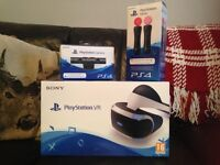 PS4 VR, CAMERA AND TWIN CONTROLLERS NEW AND SEALED