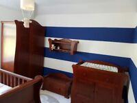 Baby furniture (tutti bambini) .. beautiful solid wood 5 piece set